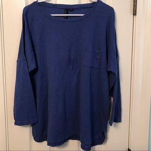 EUC!  Cynthia Rowley Long Sleeve Slub Knit Tee